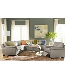 Lothan Leather Sectional Sofa Collection