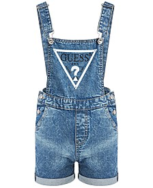 GUESS Big Girls Cotton Stretch Denim Shortall