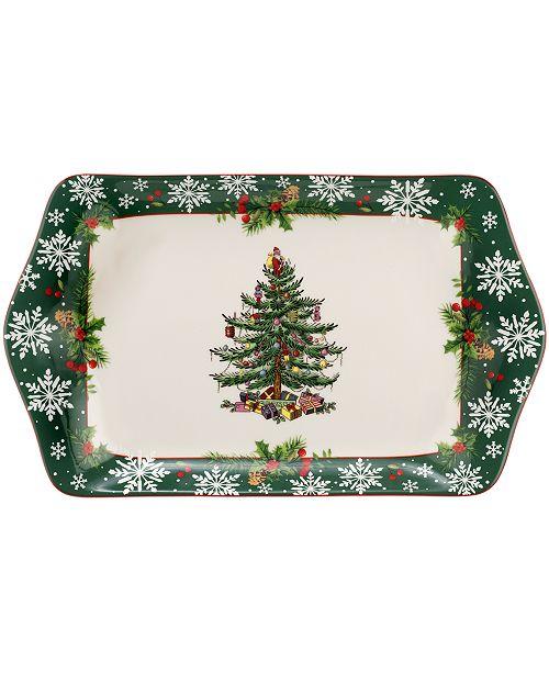Spode Christmas Tree 2019 Annual Dessert Tray