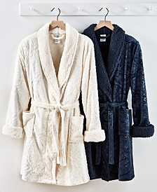 Martha Stewart Collection Embossed Medallion Robe, Created for Macy's