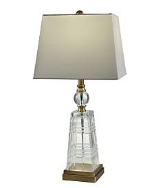 Dale Tiffany Aniello 24% Lead Hand Cut Crystal Table Lamp
