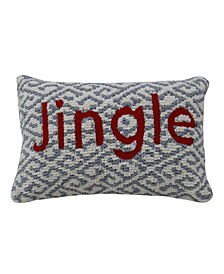 Jingle Throw Pillow Cover for Christmas Decor