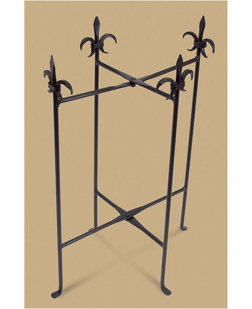St. Croix KINDWER Fleur De Lis Iron Stand for Oval Tubs