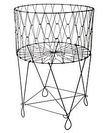 KINDWER Large Vintage Wire Laundry Basket Hamper