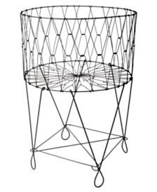 St. Croix KINDWER Large Vintage Wire Laundry Basket Hamper