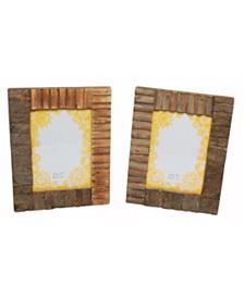 "St. Croix KINDWER Rustic Wood and Bark 5"" x 7"" Frames"