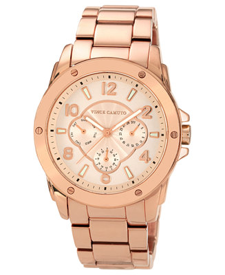 Vince Camuto Watch Women S Rose Gold Tone Bracelet 41mm