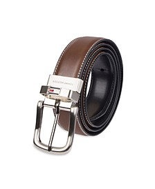 Leather Reversible Dress Men's Belt
