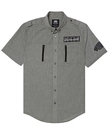 Men's Space Force Short Sleeve Woven Shirt