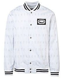 Ecko Unltd Men's Eu Stripe Aop Varsity Windbreaker