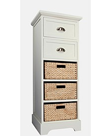 Newport Two Drawer Two Basket Table, Quick Ship