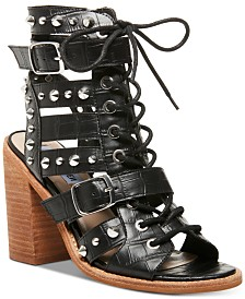 Steve Madden Cecilia Stud & Strap Lace-Up Sandals