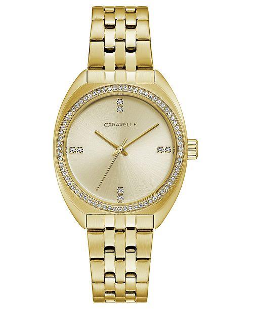 Caravelle Women's Gold-Tone Stainless Steel Bracelet Watch 32mm