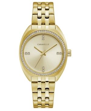 Designed by Bulova Women's Gold-Tone Stainless Steel Bracelet Watch 32mm