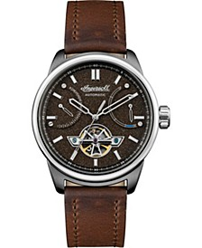 Triumph Automatic with Stainless Steel Case, Brown Dial and Brown Leather Strap