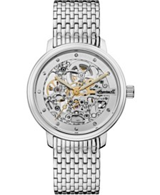 Crown Automatic with Stainless Steel Case and Bracelet and Skeleton Dial