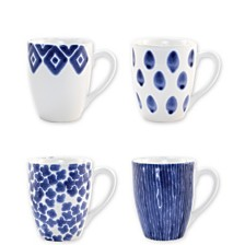 Vietri Santorini Assorted Mugs - Set of 4