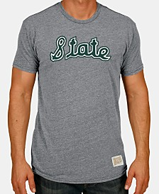 Retro Brand Men's Michigan State Spartans Tri-Blend Vault Logo T-Shirt