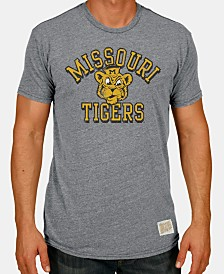 Retro Brand Men's Missouri Tigers Tri-Blend Vault Logo T-Shirt