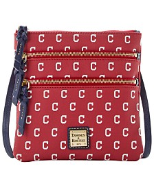 Dooney & Bourke Cleveland Indians North South Triple Zip Purse