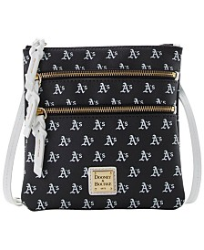 Dooney & Bourke Oakland Athletics North South Triple Zip Purse