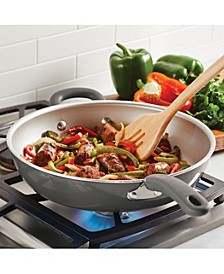 "Create Delicious Aluminum Nonstick 12.5"" Open Deep Skillet"