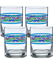Frank Lloyd Wright Saguaro Flower Double Old Fashioned Glass - Set of 4
