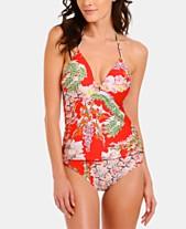 108a5d685b RACHEL Rachel Roy Printed Push-Up Tankini Top & Printed Bikini Bottoms