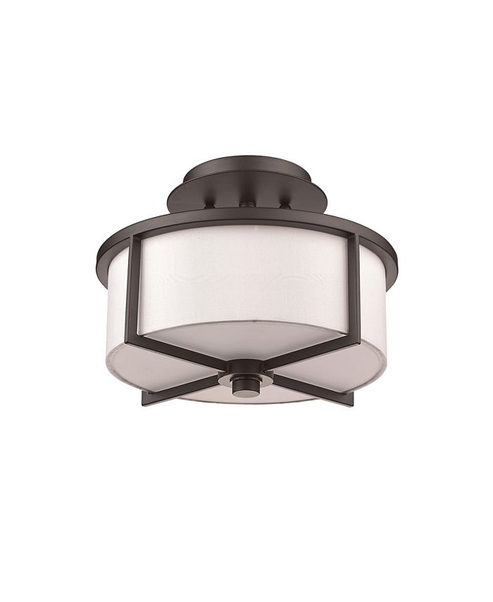 Livex - Wesley 2-Light Small Ceiling Mount
