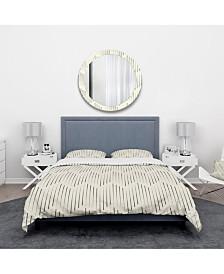 Designart 'Zigzag Background Minimal Striped Design' Scandinavian Duvet Cover Set - Twin