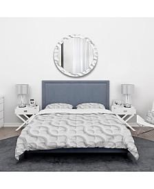 Designart 'Lattice' Scandinavian Duvet Cover Set - King