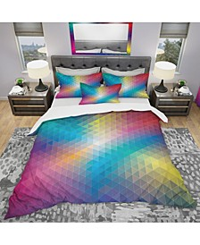 Designart 'Geometric Pattern' Modern and Contemporary Duvet Cover Set