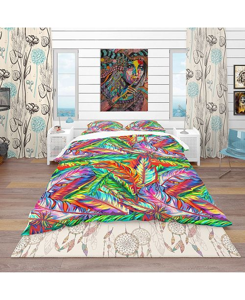 Design Art Designart 'Bright Texture' Southwestern Duvet Cover Set - Twin