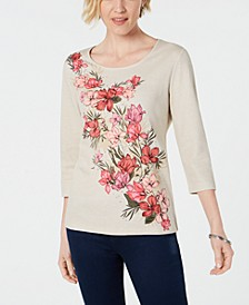 Studded Floral-Print Top, Created for Macy's