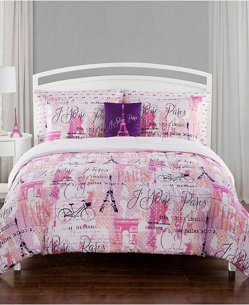 Sanders City of Lights Full 7 Piece Comforter Set