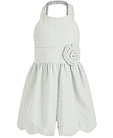 Toddler Girls Striped Seersucker Romper