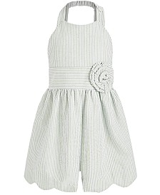 Bonnie Jean Little Girls Striped Seersucker Romper
