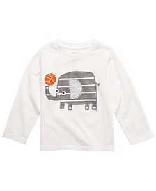 First Impressions Baby Boys Long-Sleeve Elephant Cotton T-Shirt, Created for Macy's