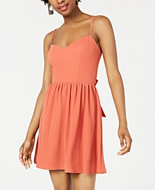 Juniors' Bow-Back Crepe Dress