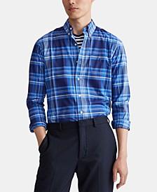 Men's Slim Fit Stretch Poplin Button-Down Shirt