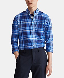 Polo Ralph Lauren Men's Slim Fit Stretch Poplin Sport Shirt