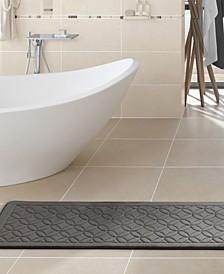"Chanel Geometric 24"" x 60"" Memory Foam Bath Runner"