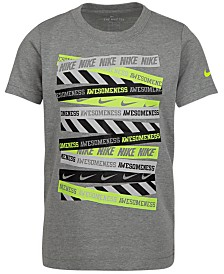 Nike Little Boys Awesomeness-Print Cotton T-Shirt