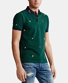 Polo Ralph Lauren Men's Custom Fit Mesh Polo Shirt