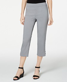 JM Collection Petite Embellished Capri Pants, Created for Macy's