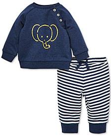 Baby Boys 2-Pc. Elephant Sweatshirt & Jogger Pants Set