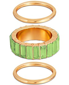 3-Pc. Set Multicolor Crystal Rings