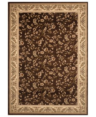 CLOSEOUT! KM Home Area Rug, Princeton Floral Brown 5'3