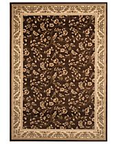 CLOSEOUT! KM Home Rugs, Princeton Floral Brown