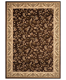 CLOSEOUT! KM Home Area Rug, Princeton Floral Brown 4' x 5'3""